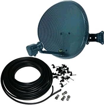 Antena parabólica y LNB Quad 15 m Kit de luces para ...
