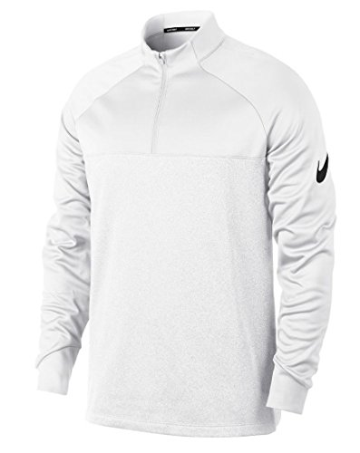 NIKE Therma Core Half-Zip Men's Golf Top (White, Small) -