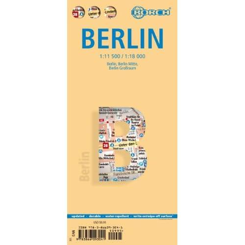 Laminated Berlin Map Borch (English Edition)
