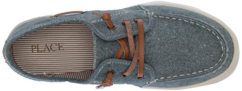 The Children's Place Boys' BB Laceup Street Slipper, Chambray, Youth 12 Medium US Infant - Image 8