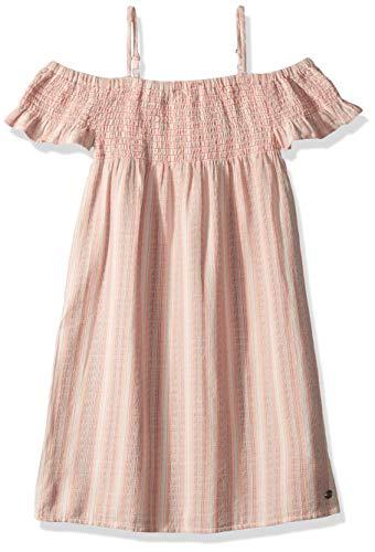 Roxy Girls' Big Smocky Sun Off The Shoulder Dress, Cloud Pink MULTISTRIPES Youth, 10/M ()