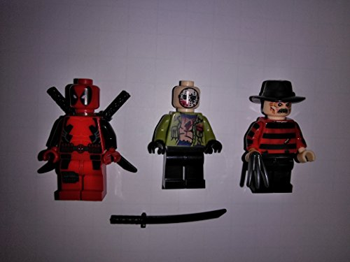 Jason Freddy and Deadpool KO minifigure lot in