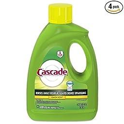 Cascade Gel Dishwasher Detergent, Lemon Scent, 120-Ounce (Pack of 4)