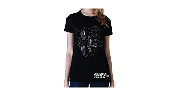Ricardo Arjona Official Merch Womens T-Shirt GUITARRA EN Mano Camiseta de Mujer at Amazon Womens Clothing store:
