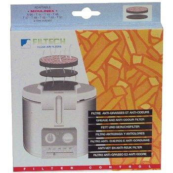 2 x Moulinex Filterkassette - Fett- und Geruchsfilter für AB6, T44, T45, T46, T47, T48, T49, T50, T51