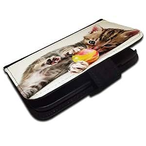 Gatos 10001, Gatitos, Negro Cuero de la PU Caso, Flip Soporte Protección Carcasa con Cierre Magnético para Samsung Galaxy S3 i9300
