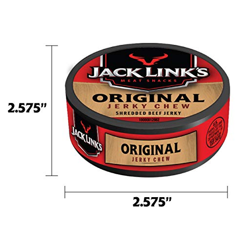 Jack Link's Jerky Chew, Original, Shredded Beef Jerky, Made with 100% Beef, 36 Count