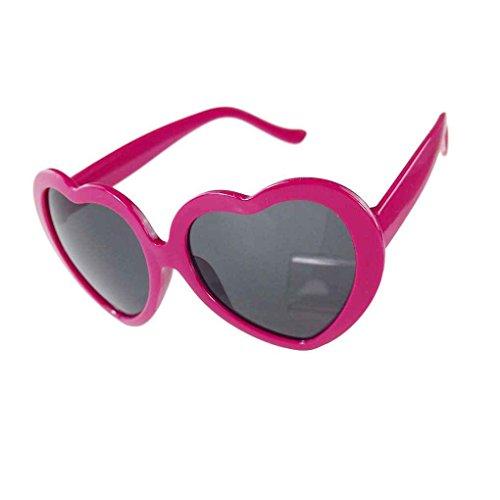 sol lindo de Rosa Diseño corazón del de forma la Negro Providethebest Amor Gafas v4wOU