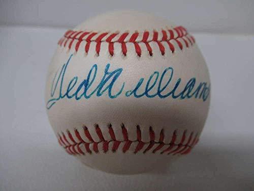 Ted Williams Autographed Ball - Oalb Sweet Spot Loa Hof Pc948 - JSA Certified - Autographed Baseballs
