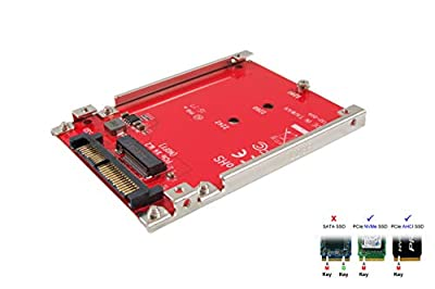 """Ableconn IU2-M2132 M.2 to U.2 Adapter - Turn M.2 NVMe SSD into 2.5"""" Drive for U.2 (SFF-8639) Host Interface by Ableconn"""