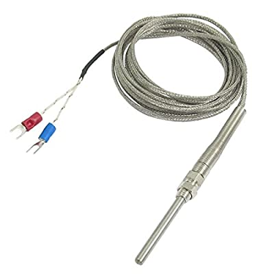 9.8ft 50x5mm K Type Thermocouple Temperature Controller Sensor, 0-400° C