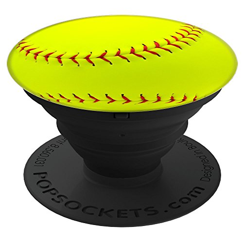 Sassy Southern Charm & Grace Cool & Unique Sports Fan | Softball Player Gift on Black for Wireless Phone PopSockets Stand for Smartphones and Tablets