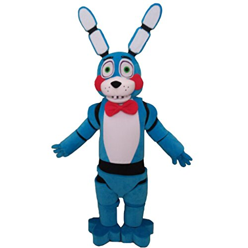 [CosplayDiy Unisex Five Nights At Freddy's Toy Bonnie Mascot Costume 168-172] (Fnaf Bonnie Costume)