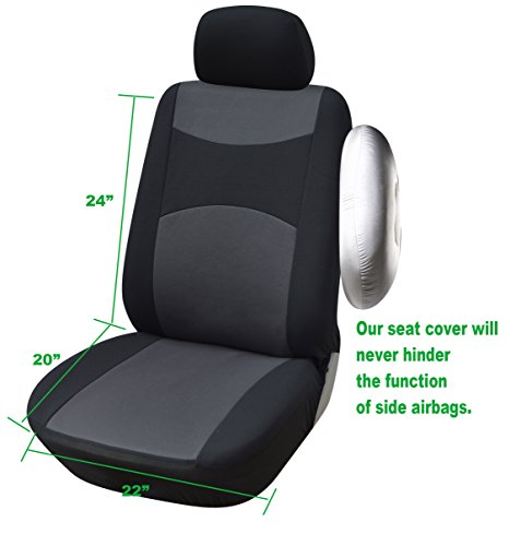 116001 black fabric 2 front car seat covers compatible to mazda 3 4 door 3 5 door 6 cx 3 cx. Black Bedroom Furniture Sets. Home Design Ideas