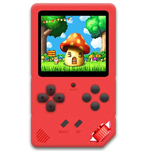 Beijue 16 Bit Handheld Games for Children Adults 3.0'' Large Screen Preloaded 220 HD Classic Retro Video Games Travel Arcade Entertain System Seniors Electronic Game Player Birthday Xmas Gift (Red)