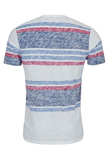 DRYKORN Halbarm T-Shirt CARL Rundhals Ringel weiß/rot/blau