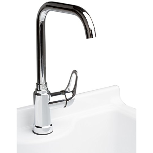 Simpli Home Murphy Laundry Cabinet with Faucet and ABS Sink, 24'', Pure White by Simpli Home (Image #3)