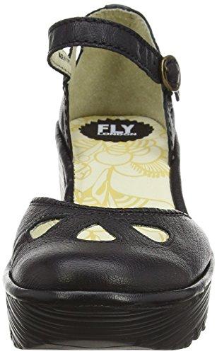Fly London Yuna Mary Jane Kile Sandal Fuld Læder Sort DAUUc