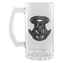 Official Licensed Harry Potter Metal Badge Hogwarts Crest Glass Stein