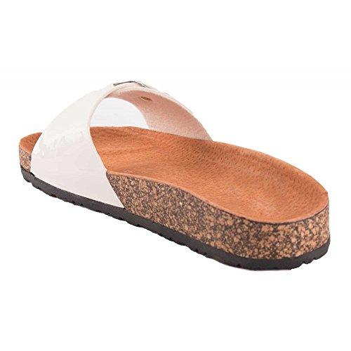 Primtex - Sandalias para mujer blanco