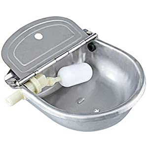 Homend Upgraded Automatic Waterer Bowl Farm Grade Stainless Stock Waterer Horse Cattle Goat Sheep Dog Water (with Drainage Hole) 33