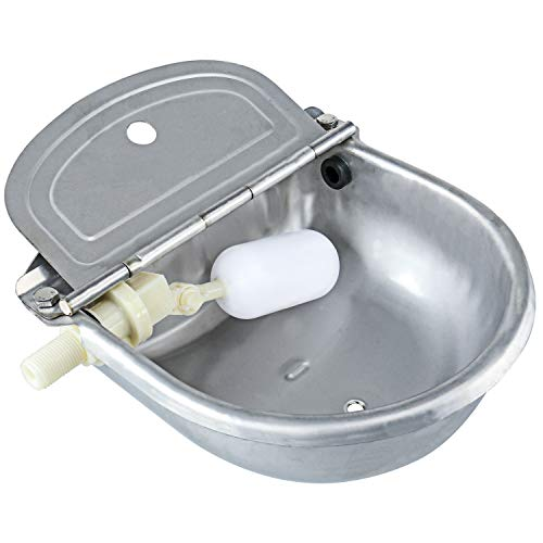 - Homend Upgraded Automatic Waterer Bowl Farm Grade Stainless Stock Waterer Horse Cattle Goat Sheep Dog Water (with Drainage Hole)