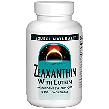 Source Naturals Zeaxanthin with Lutein 10 mg - 60 Tablets (Pack of 2)