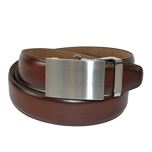 PGA TOUR Men's Slide Mechanism Ratchet Belt, 44, Brown