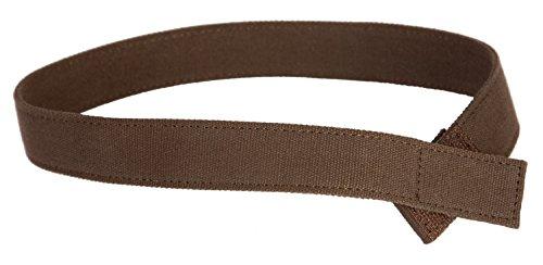 Myself Belts, Brown Canvas Belt Easy To Fasten for Little Boys