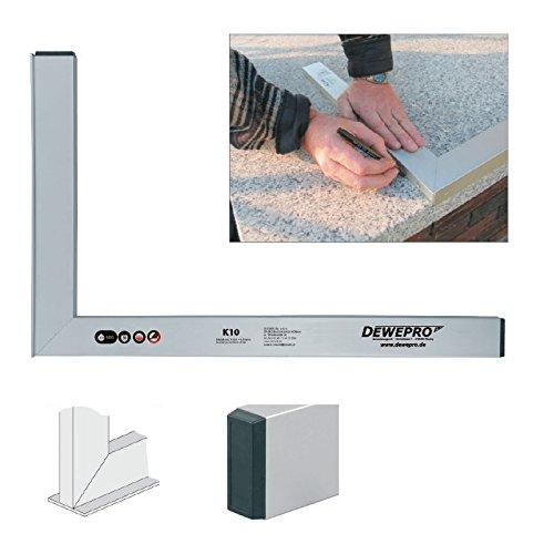 Aluwinkel Winkel Maurerwinkel DEWEPRO/® Aluminium Bauwinkel 90/° mit Anschlagsleiste 120x60cm Anschlagwinkel Profilwinkel