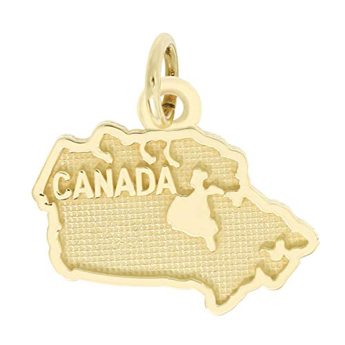 Lgu 14K Yellow Gold Polished Travel Charm Pendant (Canada)