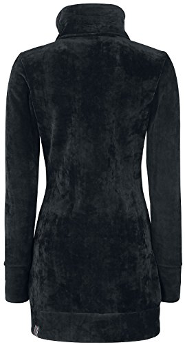 Funnel Long Giacca Heritage Nero Bench Donna Fleece na1tSx