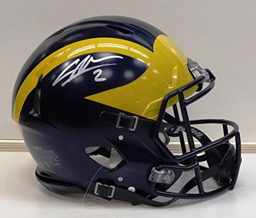 Charles Woodson Autographed Riddell Authentic Full Size University of Michigan Helmet - Autographed College Helmets