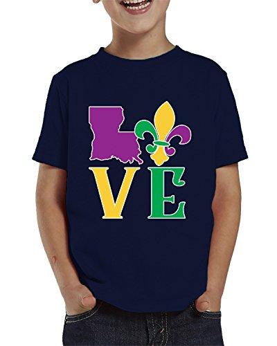 SpiritForged Apparel Love Louisiana Mardi Gras Toddler T-Shirt, Navy 2T