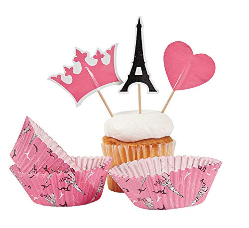 tkpartysupplies4u 100 pc Perfectly Paris Baking Cups with