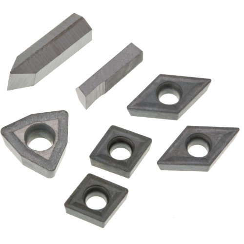 Grizzly T23903 YG6X TiN Insert Set (7) for T10293, Aluminum by Grizzly