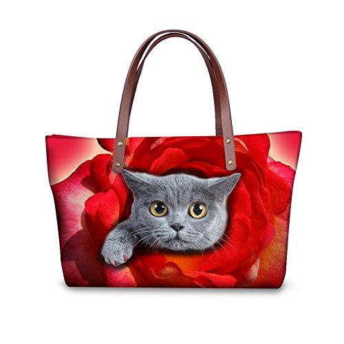 Purse Bags Foldable Women Wallets Handbags Top W8ccc3496al FancyPrint Satchel Shopping Handle pRSqwxtw