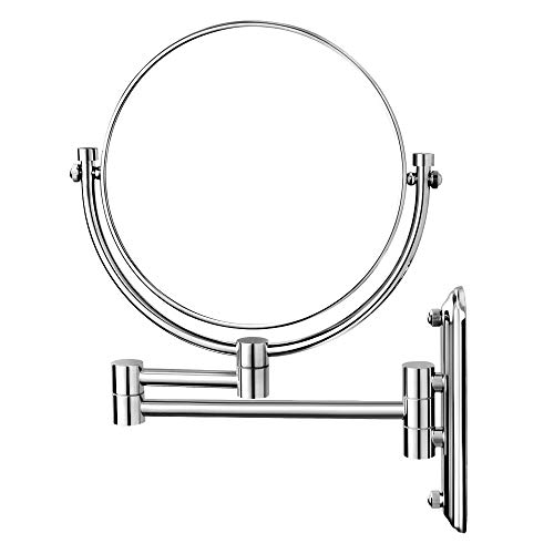 Nicesail Wall Mount Mirror 8 Inch, Double-Side 1X 10X Magnified for Makeup and Shaving, Chrome Finished