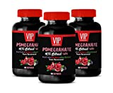 Brain Support Dietary Supplement - Pomegranate Extract Formula - with ACAI, NONI, RESVERATROL and Goji Berry - Acai Berry Pills - 3 Bottles 180 Capsules