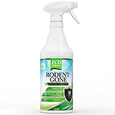 Eco Defense Mice Repellent - Humane Mouse Trap Substitute - Organic Spray - Guaranteed Effective - Works For All Types of Mice & Rats