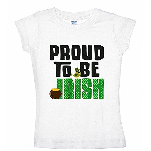 Proud Irish Girl (NanyCrafts Little Girls' Proud to be Irish Bird St Patricks day Shirts for Girls 5/6Y)