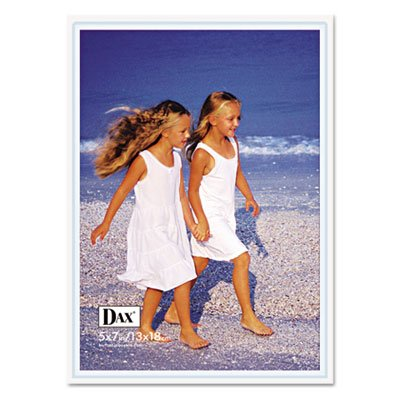 DAX® - Velcro Magnetic Cubicle Photo Document Frame, Acrylic, 5 x 7, Clear - Sold As 1 Each - Velcro® piece on back sticks to fabric wall, or use the Velcro® backed magnet that is included. (Acrylic Dax Frame)