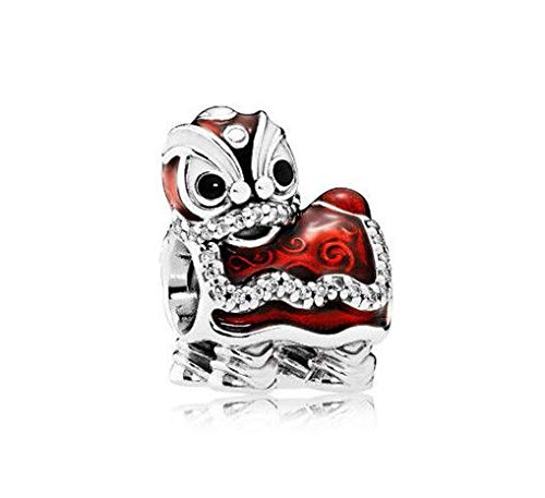 16pcs Silver lion European Charm Crystal Spacer Beads Fit Necklace Bracelet HOT