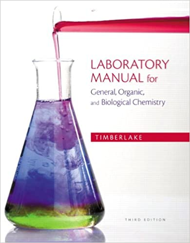 Laboratory Manual For General Organic And