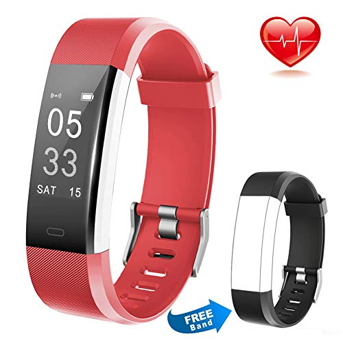 Lintelek Fitness Tracker Wireless Charging Message Call Reminder Heart Rate Monitor, Waterproof Activity Tracker Sleep Monitor, Smart Watch Calorie Counter Replacement Band Android iOS, Men Women Kids ()