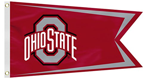 Fremont Die NCAA Ohio State Buckeyes Boat Flag, Small, Red
