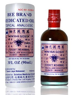 Bee Brand Medicated Oil Topical Analgesic 3 0z - 90 ml Bottle