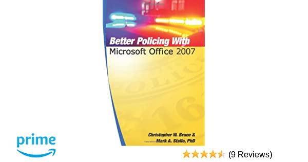 Amazon com: Better Policing With Microsoft Office 2007