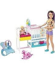 Barbie Barnvakt docka med baby och tillbehör