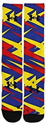 Under Armour Boy\'s Alter Ego Superman Sublimated Crew Socks, Blue Sublimation, Youth Large